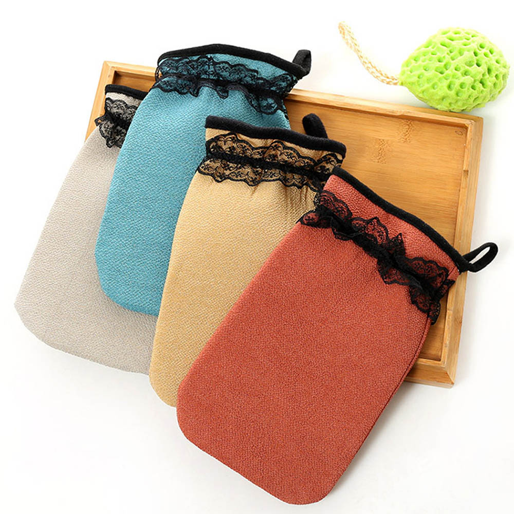 Deep Exfoliation Glove Skin Mitt Double-Sided Single-Layer Shower Towel Cuozao Towel Rub Mud Bath Gloves Bath Sponge Bath Brush