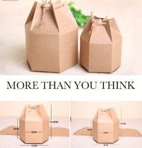Image 5 - Оптовая крафт бумажная коробка с веревкой маленькие подарочные коробки для бутика выпечки печенья/конфеты упаковочная коробка картонная коробка 50 шт