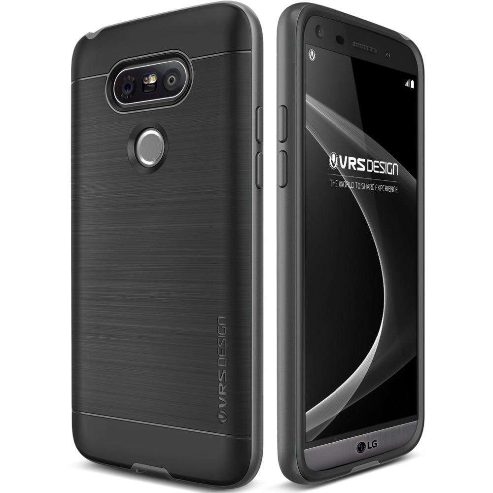 Original VERUS For LG G5 Case Luxury Drop Protect Hard Frame Brushed Metal Silicone Back Hybrid