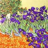 Van Gogh Oil Painting 100 Real Silk Scarf 88 88cm Fashion Women Scarf Luxury Brand Designer