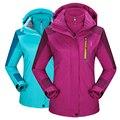 2016 зимняя куртка Мужчины Водонепроницаемый Тепловые Женщины Куртки пальто Спортивная Капюшоном Бархат Верхняя Одежда