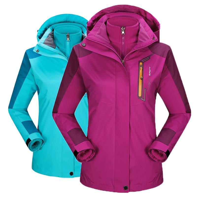 2016 winter jacket Men Waterproof Thermal Women Jackets coat Sportswear Hooded Velvet Outerwear