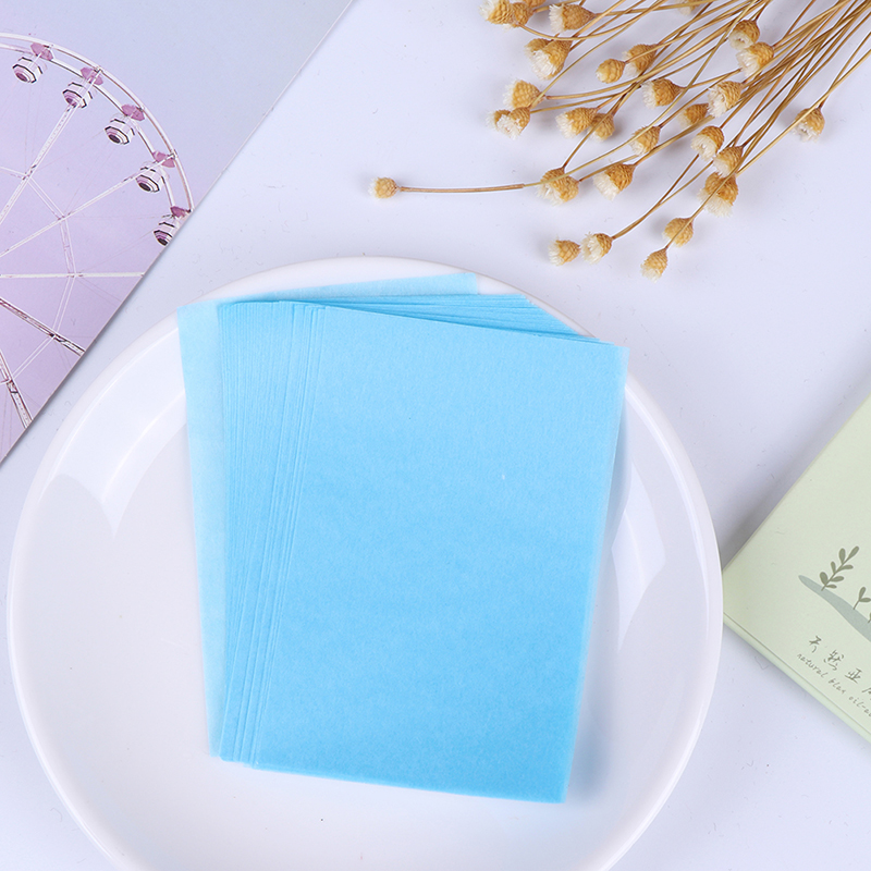 50pcs/box Tissue Papers Wood Pulp Makeup Cleansing Oil Absorbing Face Paper Absorb Blotting FaceCleanser Face Tool