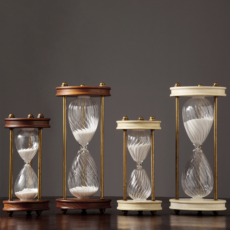 Nordic Style Transparent Glass Wood Time Hourglass Home Auspicious Decoration Adornment Sandglass Sand Clock Timer Birthday GiftNordic Style Transparent Glass Wood Time Hourglass Home Auspicious Decoration Adornment Sandglass Sand Clock Timer Birthday Gift
