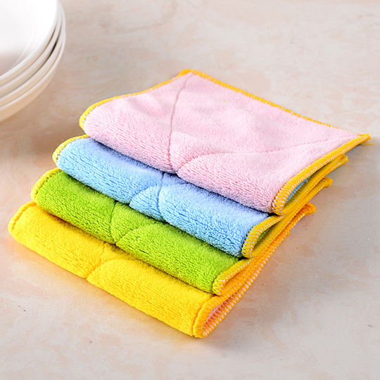 Microfiber Two Sided Good Water Absorption Kitchen Cleaning Cloth Lint Free Soft 5pcs In Cloths From Home Garden On Aliexpress Alibaba