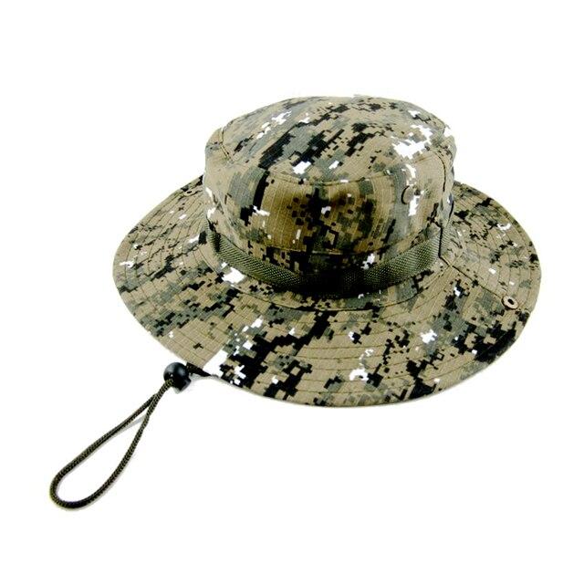 8223abb44ec7f5 Cycling Cap Outdoor Sports Fishing Hat Camouflage Bucket Hat Fisherman Camo  Jungle Bush Hats Boonie Wide Brim Sun Caps Ripstop