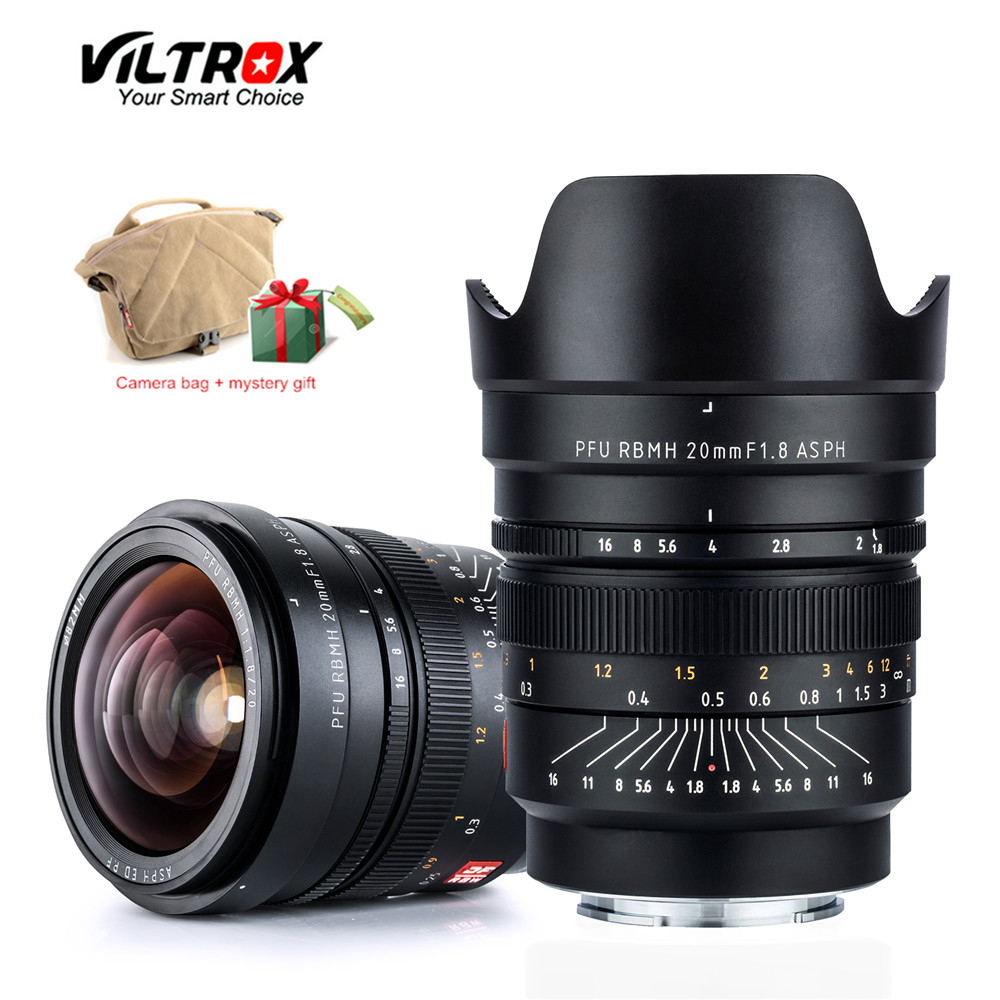 VILTROX 20mm f/1,8 ASPH marco completo gran angular-primer foco fijo para cámara Sony NEX E A9 A7M3 A7R Fujifilm FX-montaje