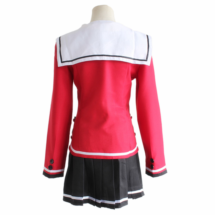 Yusa Nishimori School Uniform Cosplay Costumes Full Set Sailor Suit Top + Skirt + Bow Tie Charlotte Tomori Nao