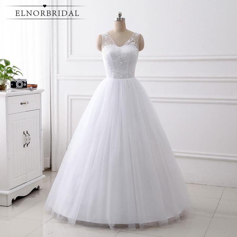 Real Photos Vintage Ball Gown Wedding Dresses 2019 Vestido De Noiva V Neck Lace Handmade Bridal Gowns Abiti Da Sposa