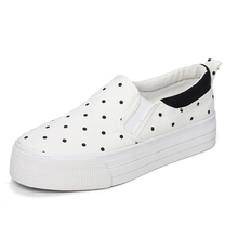 Dot a pedal lazy shoes thick crust muffin student to help low canvas shoes, casual shoes women Korean wave w225