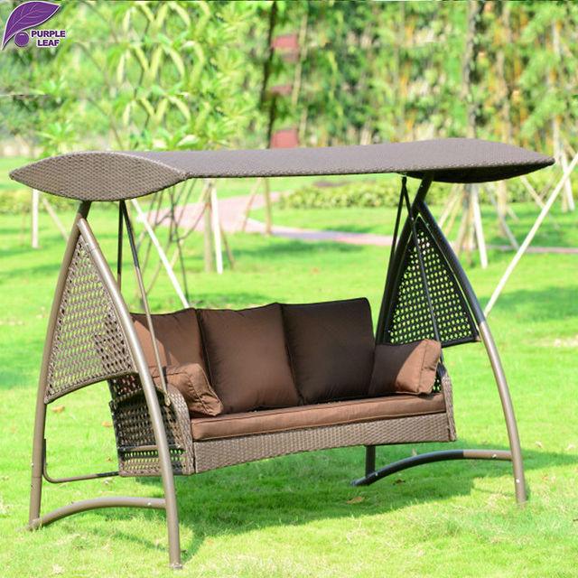 PURPLE LEAF Outdoor Rocking Chair Furniture Hammock For Children And Adult Garden Preparation rattan Swing