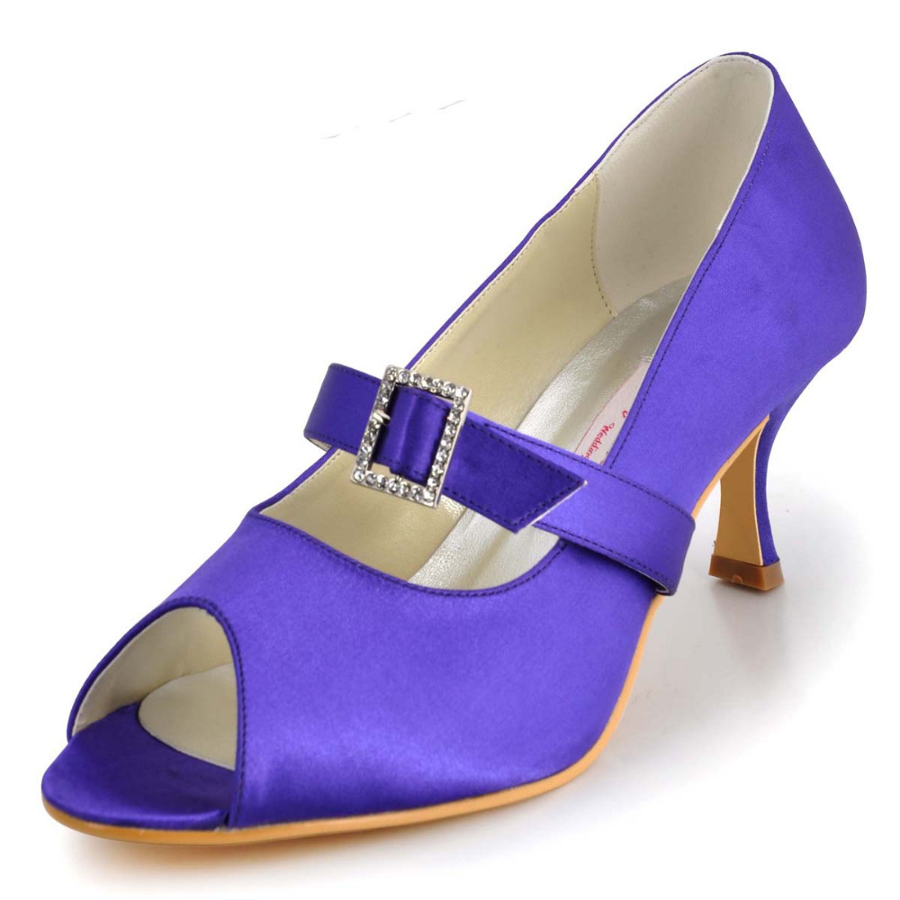 Purple Mid Heels