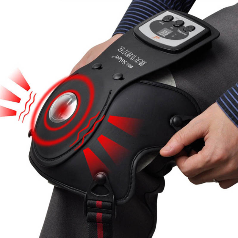 Knee physiotherapy device Photon therapy Massager Far infrared Heating magnetic Vibration joint care master pads