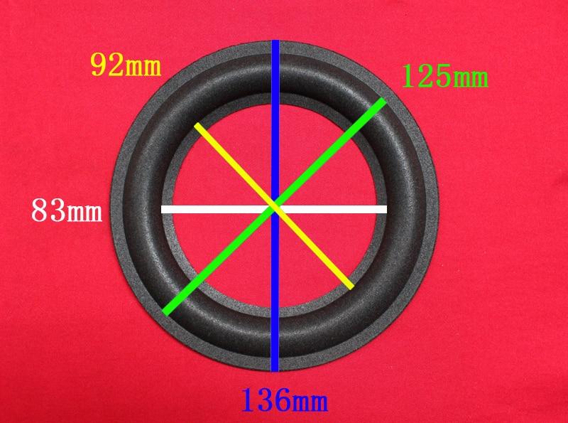 """1 set of 5.5/"""" 5.5 inch woofer bass loudspeaker speaker foam gaskets Black-4 pcs"""