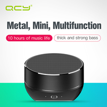 QCY QQ800 Chinese voice wireless bluetooth speaker metal + plastic mini portable sound system MP3 music player TF card subwoof