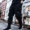 2019 NEW Streetwear Ribbons Casual SweatPants Black Slim Mens Joggers Pants Side-pockets Cotton Camouflage Male Trouser 8