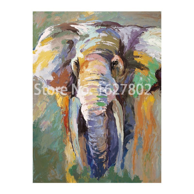 Aliexpress.com : Buy Modern Abstract Elephant Wall Painting Hand ...