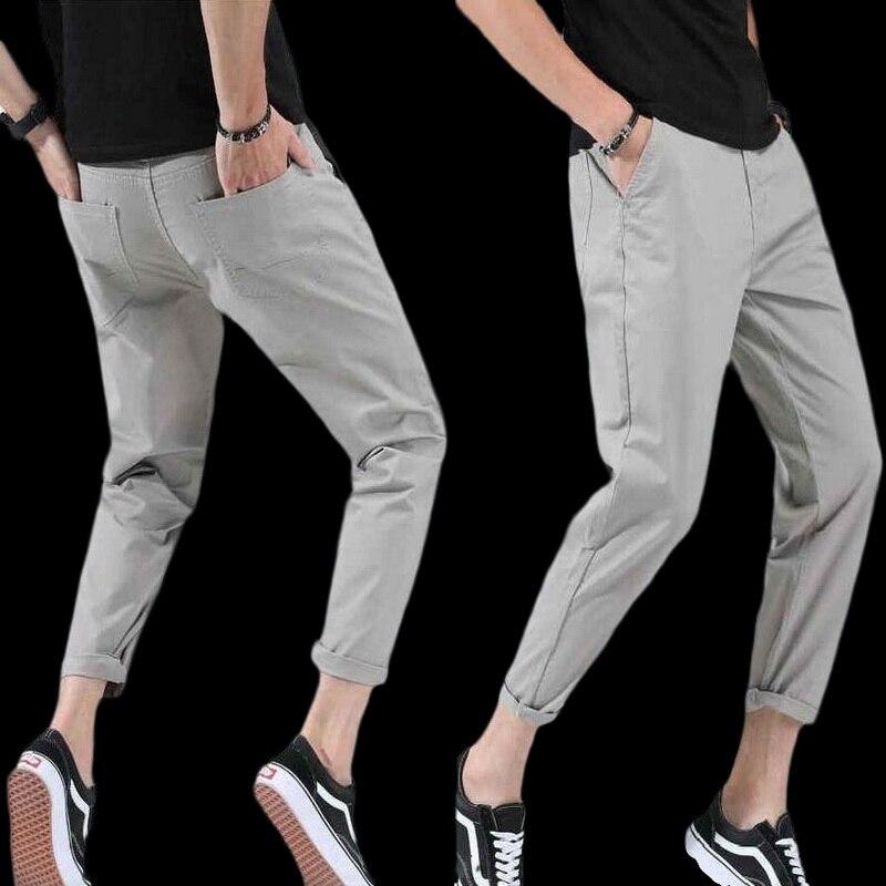 Summer Men Casual Pants Men Harem Tactica Pants Brand Sagging Cotton Pants Men Ankle-Length Pants Size 28 -48