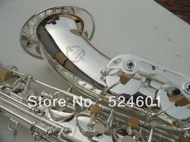 Cheap Suzuki-- tenor saxophone drop B surface silvering plating Bb saxophone Bakelite mouthpiece Bb sax instrument 300s