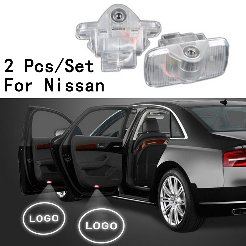 With Logo 2Pcs/Set Lens Include Ghost Shadow Projetor Only For Nissan/ Murano/Sylphy/oldTEANA/GT-R LED Courtesy