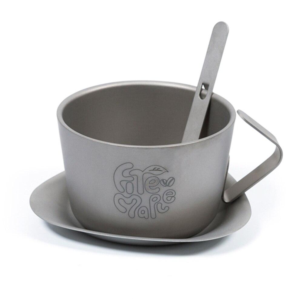 200 ml ultraléger à Double paroi en titane tasse à café Camping vaisselle Camping randonnée sac à dos tasse d'eau en plein air ustensiles de cuisine outil