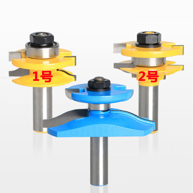 3pcs engraving machine tools wood slotting  router bits woodworking cutter 1pc 1 2 7 8 woodworking cutter cnc engraving tools cutting the wood router bits 1 2 shk