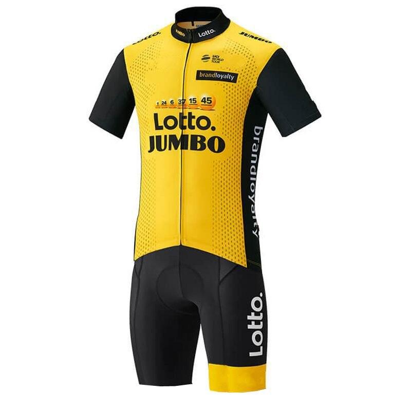 3 taschen pro Team lotto gelb Radfahren skinsuits bike kleidung aero body MTB Ropa Ciclismo Fahrrad maillot jersey speedsuit