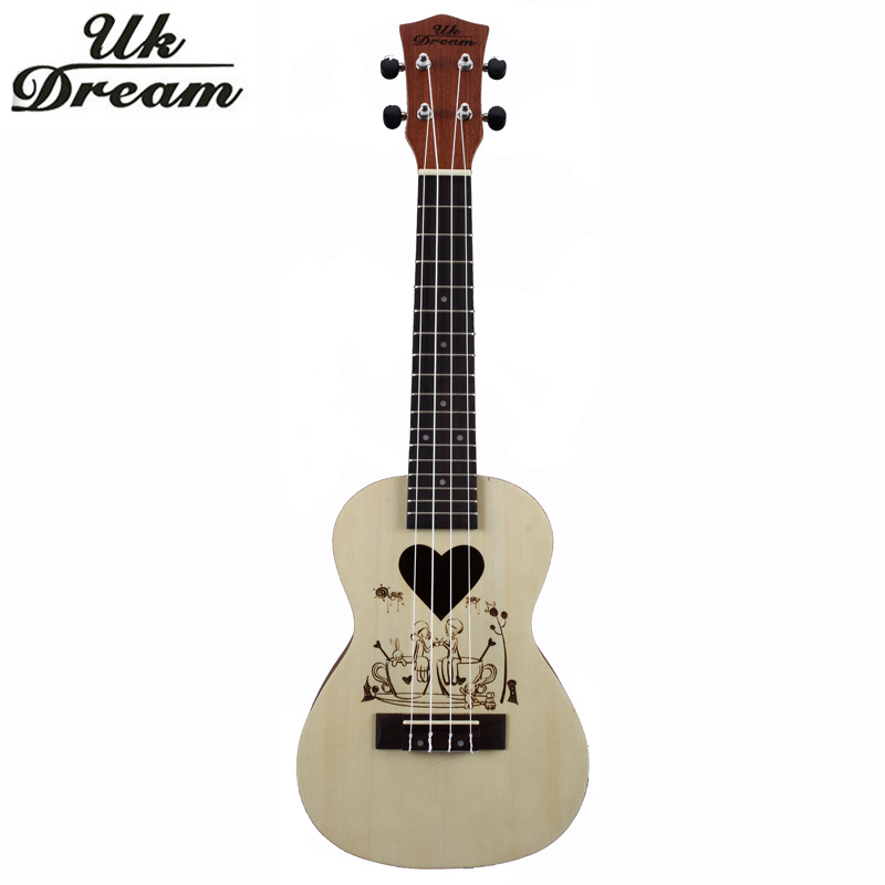 Ukulele Wooden 23 Inch Guitars Brazil Initiative Adapterization Rosewood Closed Knob Fringe Yellow  Instrument Small UC-CUP brazil football fans caxirola cheer horn for 2014 brazil fifa world cup