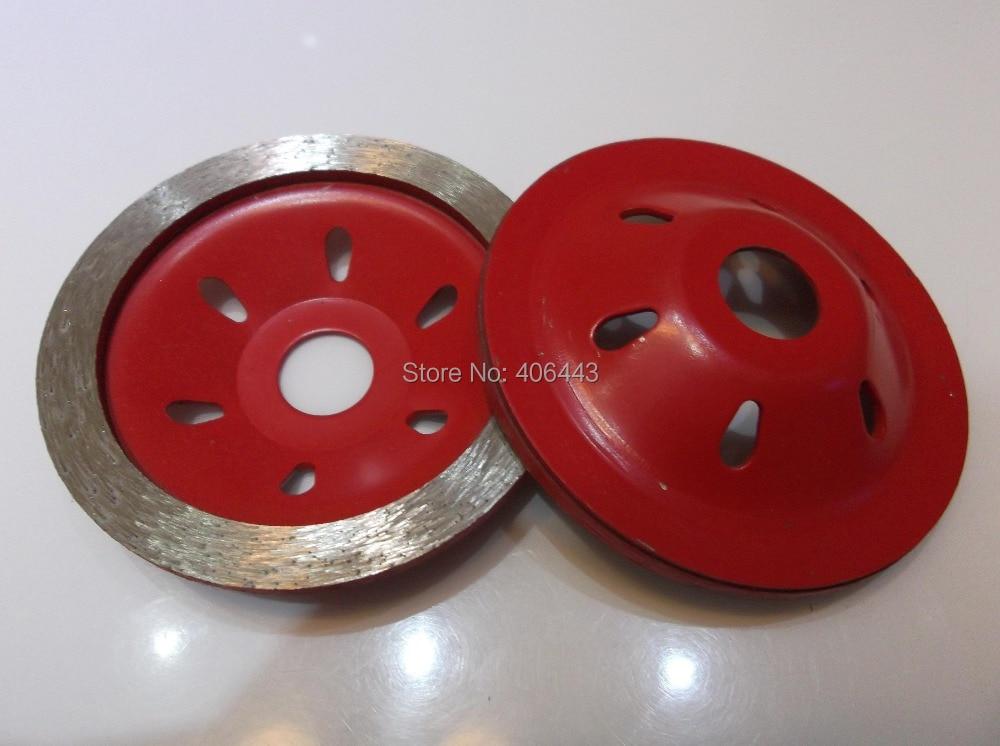 """Granito, marmuro, betono šlifavimo kampinio šlifavimo statramsčio """"Diamond"""" nepertraukiamo ratlankio taurės šlifavimo diskai (dia 100 mm * pavėsinė 20 mm)"""