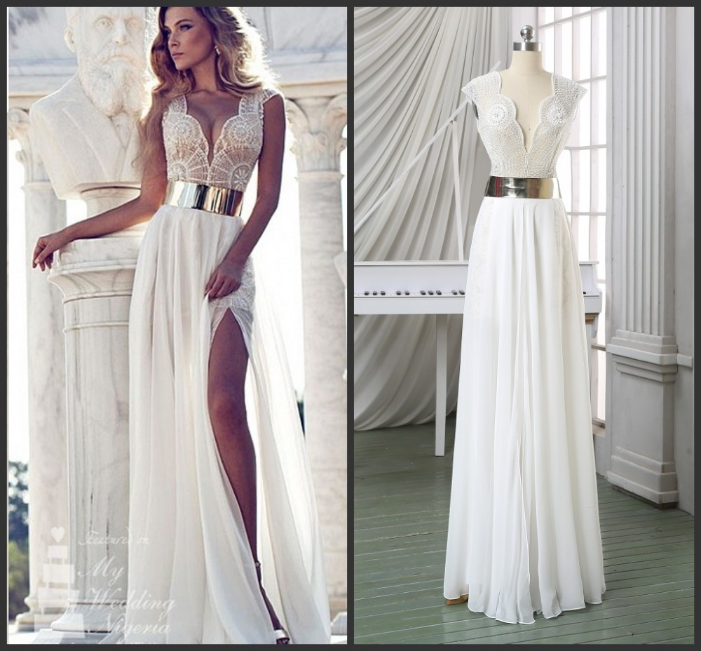 Vestidos blancos largos para fiesta