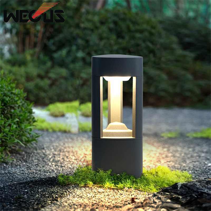 Us 99 13 43 Off Garden Landscape Outdoor Waterproof Simple Lawn Pillar Lamp Nordic Villa In