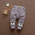 Cotton Bear Pattern Baby Pants Boys Girls Sport Trousers Spring Autumn 2017