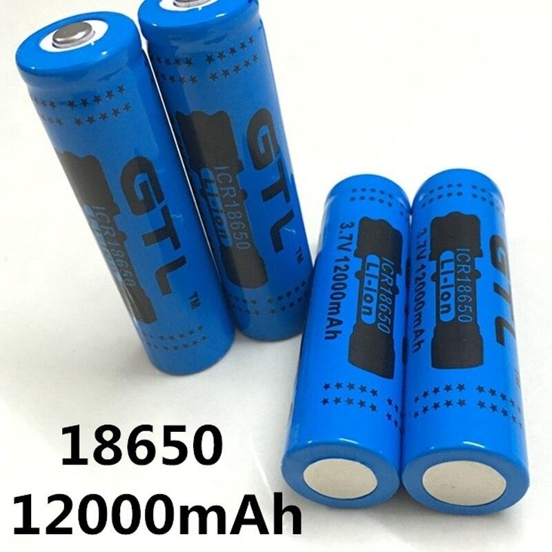 100% Nova Original NCR18650B 3.7 GTL EvreFire V12000 18650 mah Bateria De Lítio Recarregável de Grande Capacidade