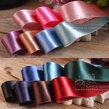50yards 25mm 38mm polyester korean satin ribbon for bouquet gift packing wedding party decoration hair bow accessories