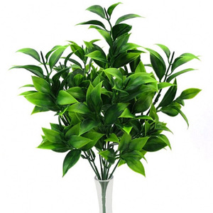 7 branches green artificial plants for garden bushes fake grass eucalyptus orange leaves faux plant for home shop decoration