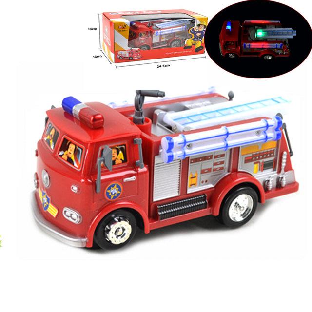 FIREMAN SAM Camión De Juguete Camión de Bomberos Coche Con La Música + LED Juguete de Niño Juguetes educativos