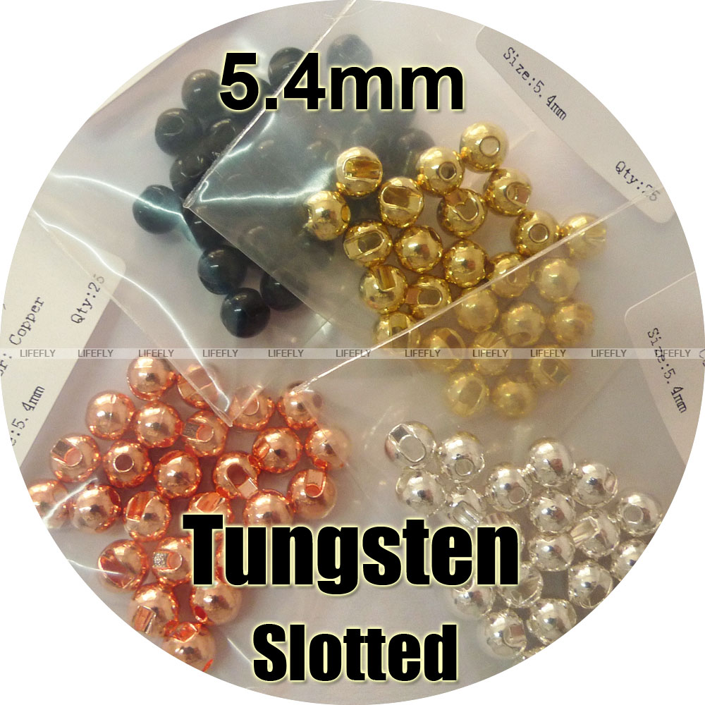 Pick Size 100 Tungsten Slotted Beads Fly Tying Silver Color Fishing