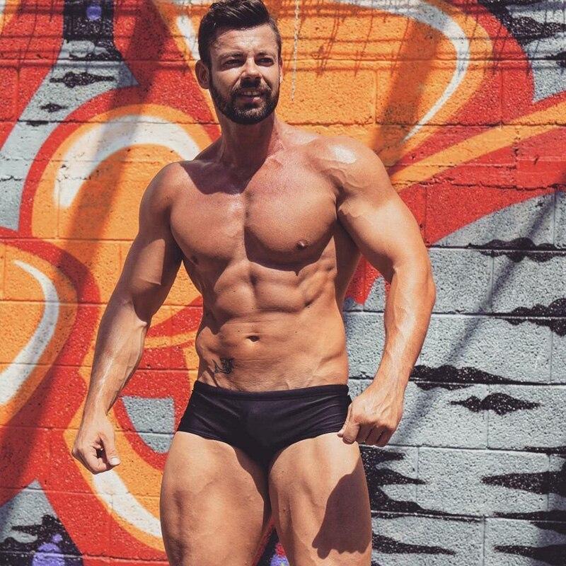 Taddlee merk 2017 nieuwe sexy mannen badmode badpakken zwemmen boxer - Sportkleding en accessoires - Foto 5