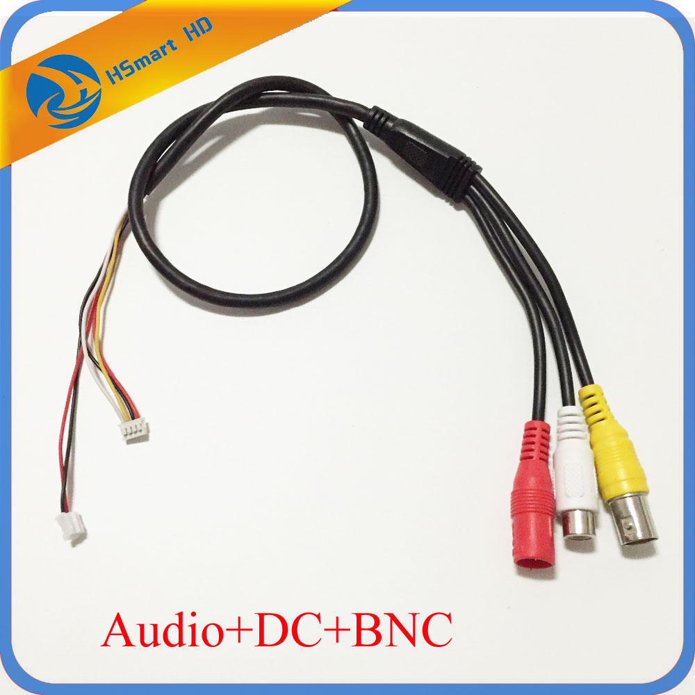 CCTV 6 Pin Audio Video Power 12V DC Cable For Camera Mic Audio Mini Microphone Cameras PCB DVR Systems cctv microphone dc6 12v power wide range mic audio microphone cctv clear sound audio pick up device microphone for camera