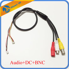 CCTV 6 Pin Audio Video Power 12V DC Cable For Camera Mic Audio Mini Microphone Cameras PCB DVR Systems