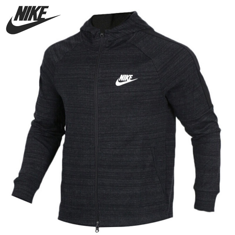 Original New Arrival 2018 NIKE NSW AV15 HOODIE FZ KNIT Men's Jacket Hooded Sportswear 3d printing women classic forever brand mochila escolar drawstring backpack travel mochilas drawstring bag