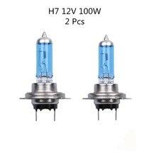 2 pcs H7 100W 12V Super Bright White Fog  Bulb headlight Car Head Light Lamp 12V car styling car light source