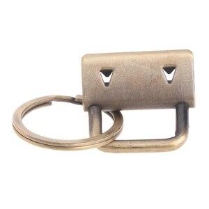 Image 4 - 10 قطعة الأجهزة مفتاح فوب 25 مللي متر المفاتيح سبليت الدائري ل المعصم السوار القطن الذيل كليب