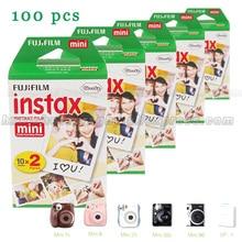 Echtes 100 stücke Weißen Rand Fuji Fujifilm Instax Mini 8, 9 Film Für 8 50 s 7 s 7 90 25 Teilen SP-1 Instant Kameras Freies Schnelles Verschiffen