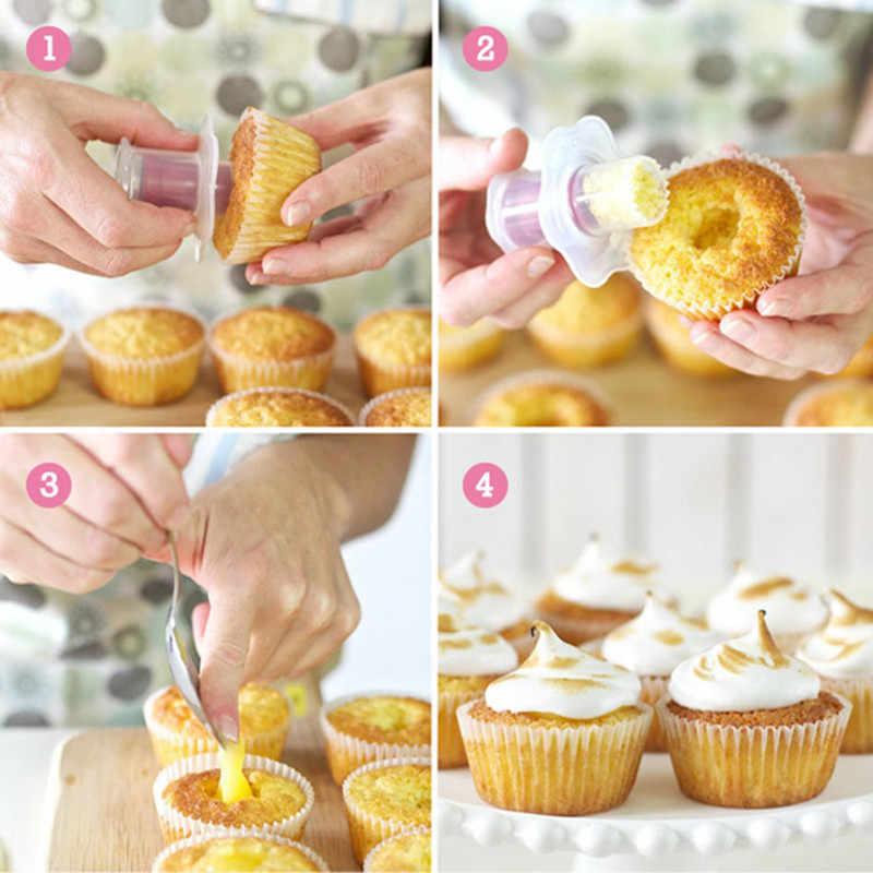 เครื่องมือเค้ก Cupcake Plunger Cutter Creative DIY เค้ก Corer Divider ตกแต่งตกแต่ง