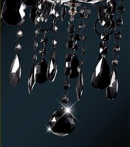 Image 5 - Lampadario moderno breve candela nera di cristallo lampada lampadario sala da pranzo lampade a luce con nero shades vendita diretta della fabbrica