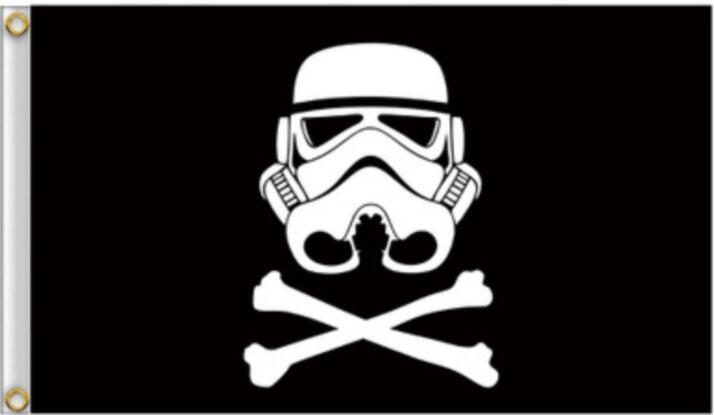 Star Wars Galaxy Empire Flag Home Decor Polyester Flying Banner Stormtrooper Hanging Flag Home Garden Decoration