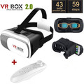 Virtual Reality Google 3D Video Cardboard Glasses VR Box ii 2.0 Version For 4.0 - 6.0 inch Smartphone + Bluetooth Controller