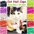 Колпачки для кошачьих ногтей 20 шт./лот, кошачья лапа, кошачья лапа, XS,S ,M,L с бесплатным клеем