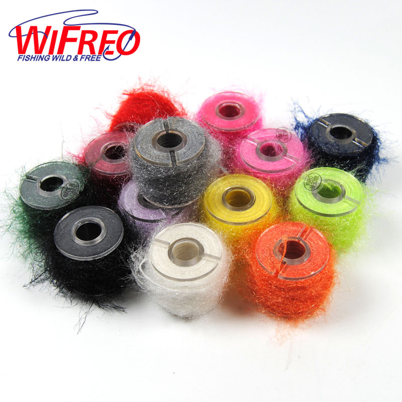 Wifreo 10m/spool Fly Tying Body Material Sparkle Fiber Line Saltwater Streamer Nymph Scud Tying 10 pieces 10 x 5 5 cm fly tying rainbow film sabiki rig shrimp back wings scud nymph tying clear flash film fly tying materials